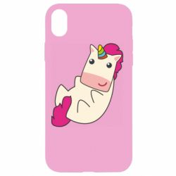 Чехол для iPhone XR Little cute unicorn