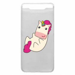 Чехол для Samsung A80 Little cute unicorn
