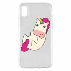 Чехол для iPhone X/Xs Little cute unicorn