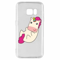 Чехол для Samsung S7 Little cute unicorn