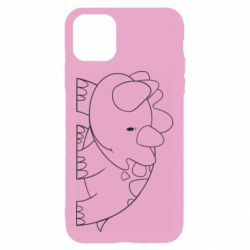 Чехол для iPhone 11 Little dinosaur with smile