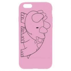 Чехол для iPhone 6/6S Little dinosaur with smile