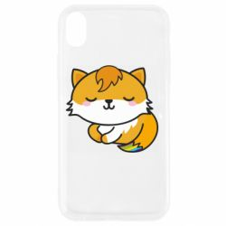 Чехол для iPhone XR Little fox with tail