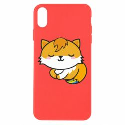 Чехол для iPhone Xs Max Little fox with tail