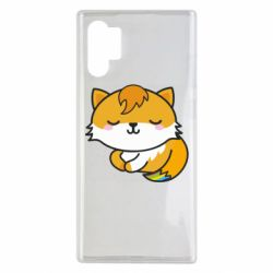 Чехол для Samsung Note 10 Plus Little fox with tail