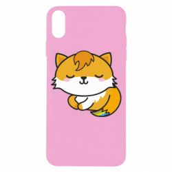 Чехол для iPhone X/Xs Little fox with tail