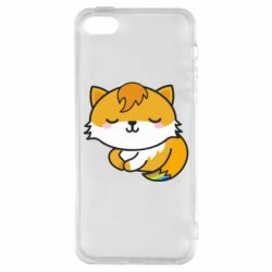Чехол для iPhone5/5S/SE Little fox with tail