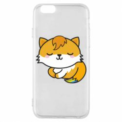 Чехол для iPhone 6/6S Little fox with tail