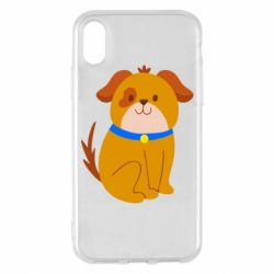 Чехол для iPhone X/Xs Little funny dog