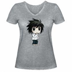 Жіноча футболка з V-подібним вирізом Little Light Yagami