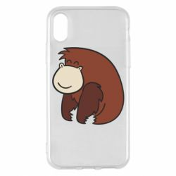 Чехол для iPhone X/Xs Little monkey
