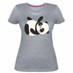 Женская стрейчевая футболка Little panda