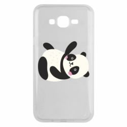 Чехол для Samsung J7 2015 Little panda