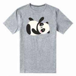 Мужская стрейчевая футболка Little panda