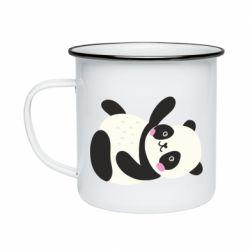Кружка эмалированная Little panda
