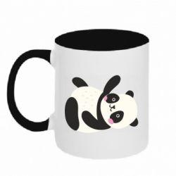 Кружка двухцветная 320ml Little panda