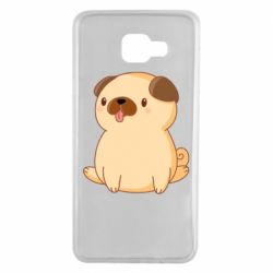 Чехол для Samsung A7 2016 Little pug