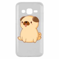 Чехол для Samsung J2 2015 Little pug
