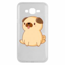 Чехол для Samsung J7 2015 Little pug