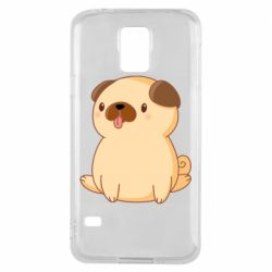 Чехол для Samsung S5 Little pug