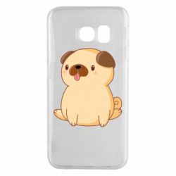Чехол для Samsung S6 EDGE Little pug