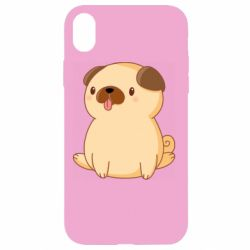 Чехол для iPhone XR Little pug