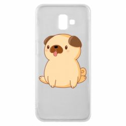 Чехол для Samsung J6 Plus 2018 Little pug