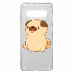 Чехол для Samsung S10+ Little pug