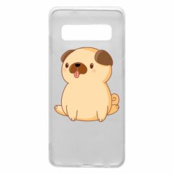 Чехол для Samsung S10 Little pug
