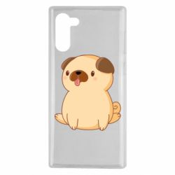 Чехол для Samsung Note 10 Little pug