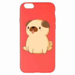Чехол для iPhone 6 Plus/6S Plus Little pug