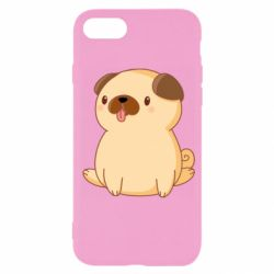 Чехол для iPhone 7 Little pug