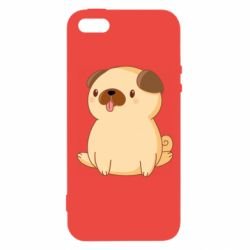 Чехол для iPhone5/5S/SE Little pug