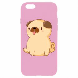 Чехол для iPhone 6/6S Little pug