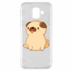 Чехол для Samsung A6 2018 Little pug