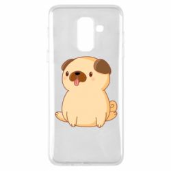 Чехол для Samsung A6+ 2018 Little pug