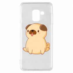 Чехол для Samsung A8 2018 Little pug