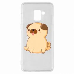 Чехол для Samsung A8+ 2018 Little pug