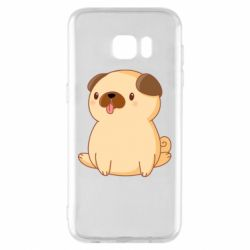 Чехол для Samsung S7 EDGE Little pug