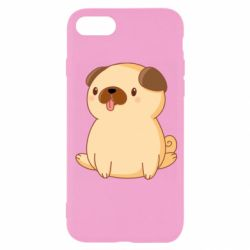Чехол для iPhone 8 Little pug