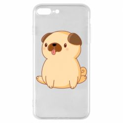 Чехол для iPhone 8 Plus Little pug
