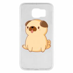 Чехол для Samsung S6 Little pug