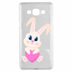Чехол для Samsung A5 2015 Little rabbit with a heart