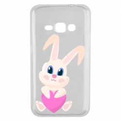Чехол для Samsung J1 2016 Little rabbit with a heart