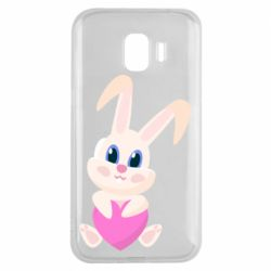 Чехол для Samsung J2 2018 Little rabbit with a heart
