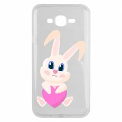 Чехол для Samsung J7 2015 Little rabbit with a heart