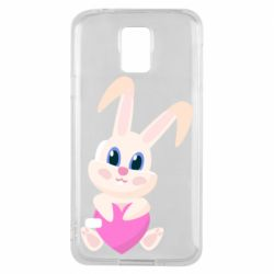 Чехол для Samsung S5 Little rabbit with a heart