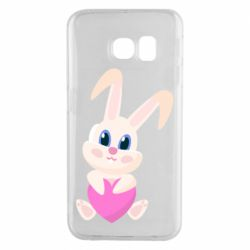 Чехол для Samsung S6 EDGE Little rabbit with a heart