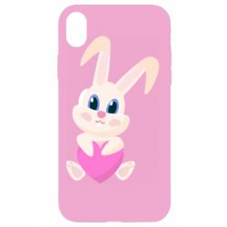 Чехол для iPhone XR Little rabbit with a heart