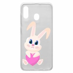 Чехол для Samsung A30 Little rabbit with a heart